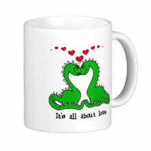 It's All About Love Dinosaur Coffee Mugs