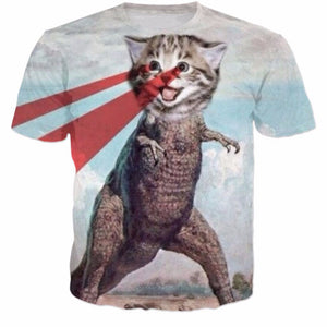 Meow-Rex Takes Over The World T-shirt