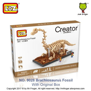 Jurassic Archaeology Dinosaur Fossil Snap Together Building Blocks Model Compatible With Name Brand Interlocking Bricks