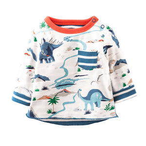 Dino Paradise Kids Long Sleeve Shirt