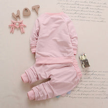 2Pc embroidered Baby Dino Sweatshirt & Harem Sweatpants Set