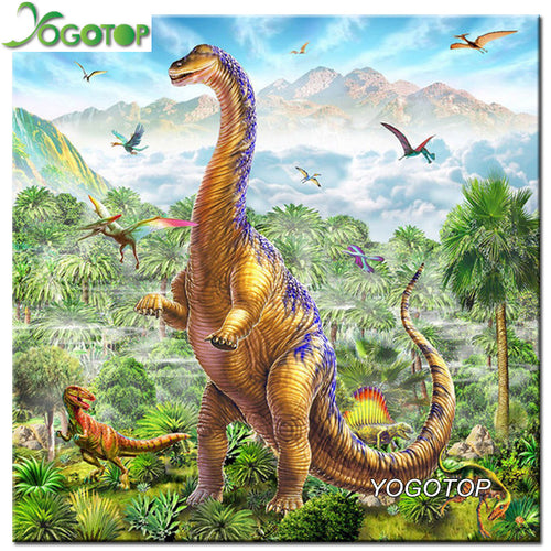 Diy Diamond Painting Cross Stitch Apatosaurus