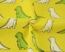 100% Cotton Yellow Twill Dino Crafting Fabric