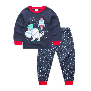 Cotton Buzzosaur Aldrin Dinosaur Children's Pajama Sleepwear Set