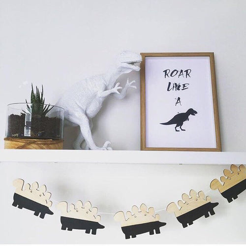 Dinosaurs Woodchips DIY Banner Wall Hanging
