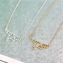 Origami Rex Pendant Necklace Gold Or Silver