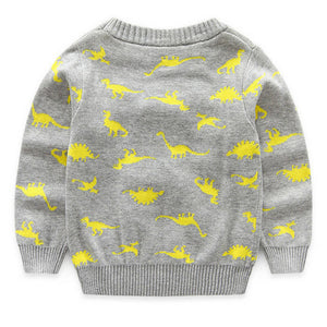 Knitted Dinosaur Sweater 4 Color Options