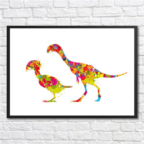 Dinosaur Mother and Child Wall Art