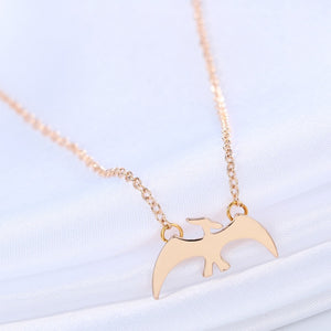 Tiny Pterodactyl Dinosaur Necklace