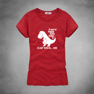 If You're Happy And You Know it T-Rex T-shirt