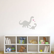 Mommy and baby Brontosaurus Dinosaur Vinyl Wall Decal Stickers 7 Color Options