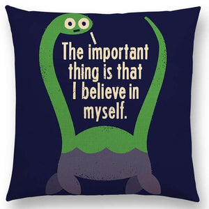 I Love You This Much Dinosaur Cushion Cover Throw Pillow Case