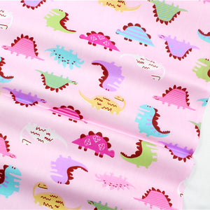 20 inches X 60 inches Pink Cotton Dino Fabric