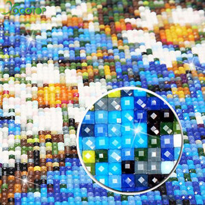 DIY 5 Piece Diamond Painting Cross Stitch Set