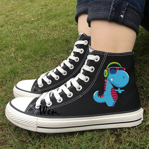 Groovy Dino Unisex High Tops