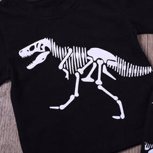Baby Boys Girls Dinosaur Bones Long Sleeve Tops T-shirt Pants 2pcs Childrens Set