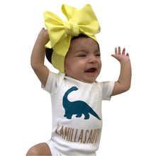 Personalized Infant Dinosaur Baby Romper Onesie