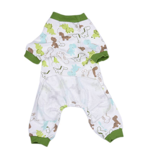 Dinosaur Print Dog Pet Onesie Pajamas