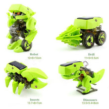 DIY Assemble 4 In 1 Educational Solar Energy Robot Dinosaur Drilling Machine Kit
