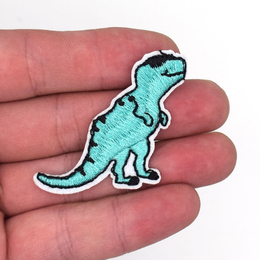 Diy Embroidered Dinosaur Iron On Patches