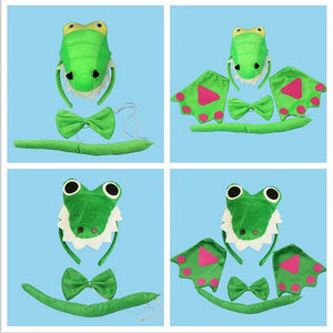 Dinosaur Headband Bow Tie Tail Set