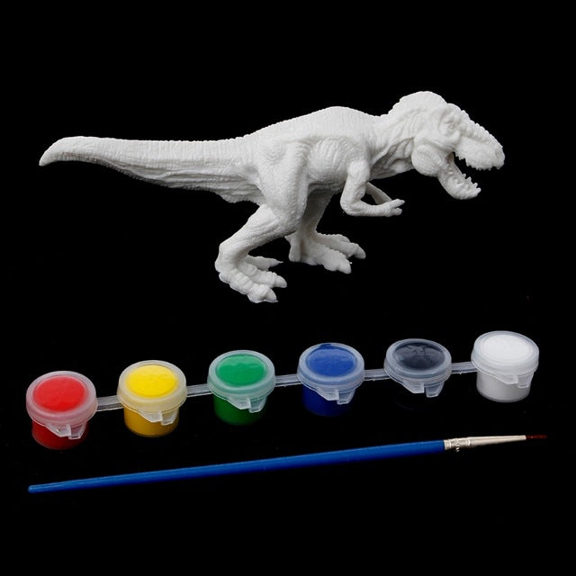 DIY Paint By Number Dinosaur Model 6 Dinosaurs To Choose From