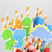 20 Piece Dinosaur Paper Party Straws