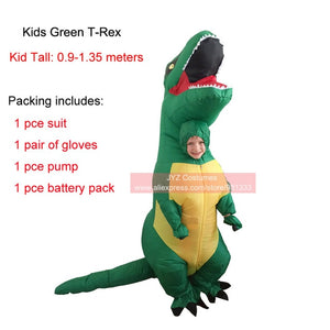 Kids Inflatable Halloween Costume Dinosaur Multiple Color And Style Options