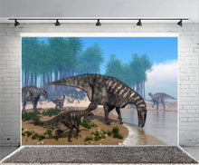 A River Runs Through It Vinyl Dinosaur Photography Backdrops
