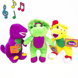 "30CM Musical Singing Barney & Friends Dinosaur 11"" I LOVE YOU Song Plush Stuffed Toy"