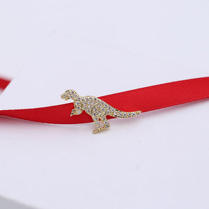 Satin Ribbon Dinosaur Choker Necklace *FREE ITEM