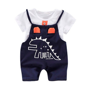 Spike T-Shirt & Romper Overalls 2 Piece Set