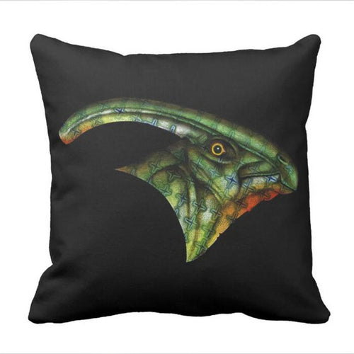 Parasaurolophus Dinosaur Throw Pillow Cover