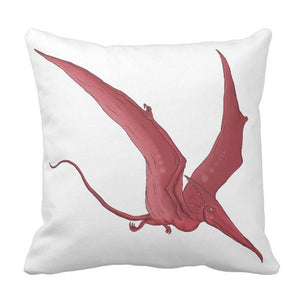 Pterodactyl  Dinosaur Throw Pillow Cover