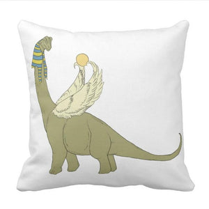 BrachioHorus  Dinosaur Throw Pillow Cover