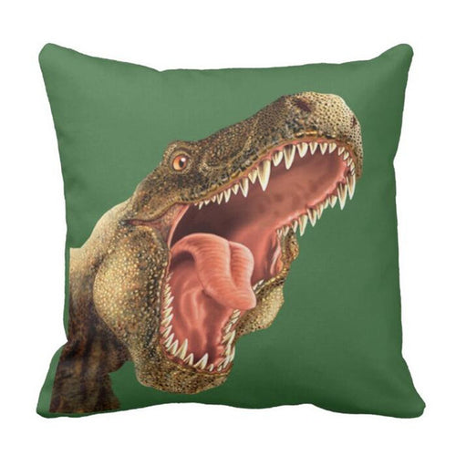 Rawr Dinosaur Throw Pillow Cover
