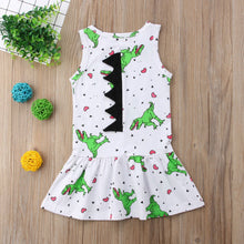 Cotton Princess Rex Sleeveless Dinosaur Spike Dress