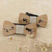 Children's Handmade Wooden Dapper Dinosaur Bow Tie