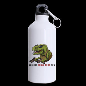Right To Bare Arms Dinosaur Aluminum Sports Water Travel Bottle