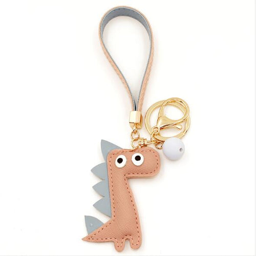 Vegan Leather Dinosaur Keychain Purse Accessory