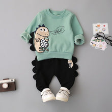 2 Piece Hello Velveteen Fleece Lined Sweatpants & Sweatshirt Set