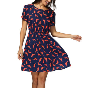 Dinosaur Secretary Day Dress Plus Sizes Available