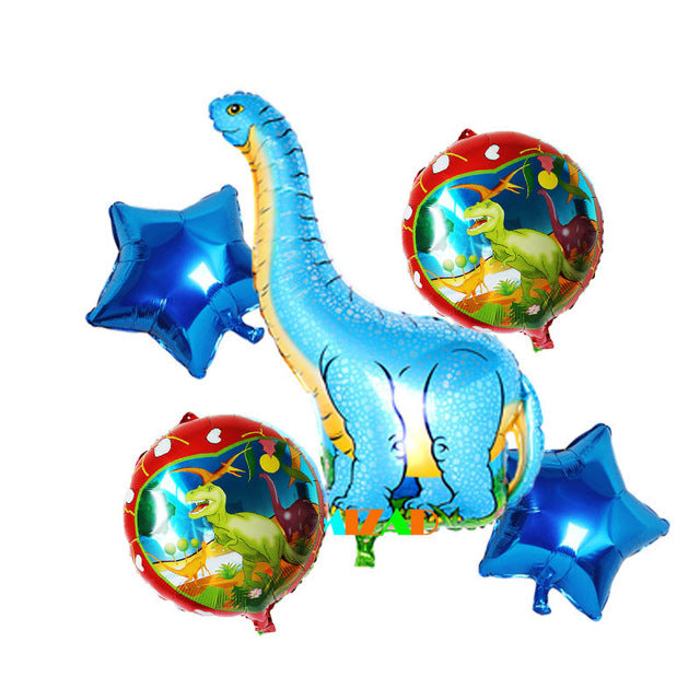 Dinosaur Foil Balloons 5pcs/set Big Helium  Jurassic World Ballon Dinosaur Party Supplies Kids Birthday Gift