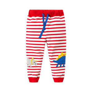 Jumping New Baby Boys Pants Kids Harem pants Autumn thick animal dinosaur Cotton Pants Children Trousers for boys long pants