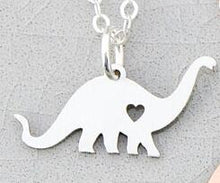 Personalized Custom Engraved Brontosaurus Dinosaur Charm Necklace