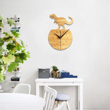 Wood T-Rex Wall Clock