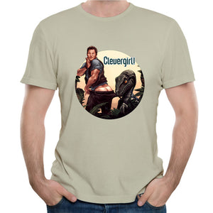 Jurassic park World Clever Girl Coppertone Chris Pratt T-shirt