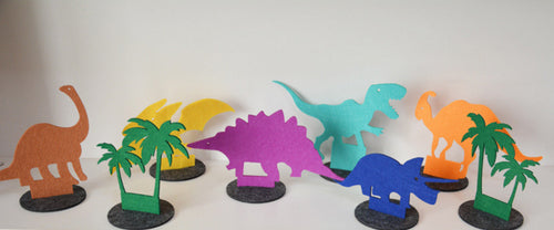 8 Piece  Dinosaur Table Decoration