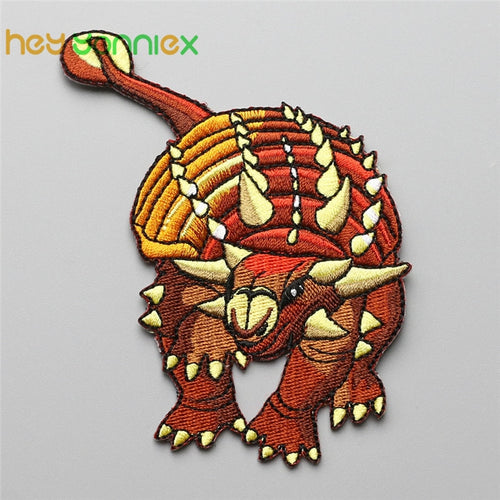 Ankylosaurus Embroidered DIY Iron On Patch Applique