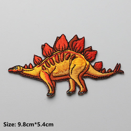 Stegosaurus Embroidered DIY Iron On Patch Applique